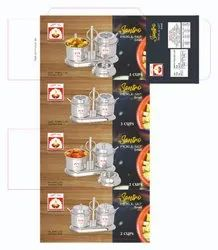 Silver Stainless Steel Santro Pickle Set, For Restaurant, Size: Small (2 Cups)