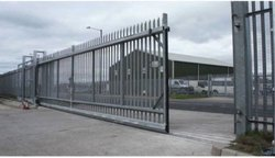 Modern Industrial Mild Steel Sliding Gates