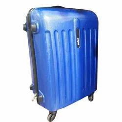 Safari Blue Fiber Trolley Bag, Size: 24''