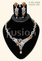American Diamond Studded Necklace Set