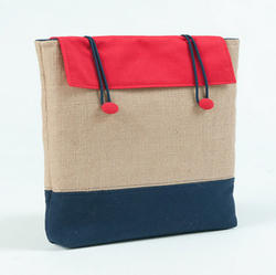 Jute And Cotton Laptop Bag