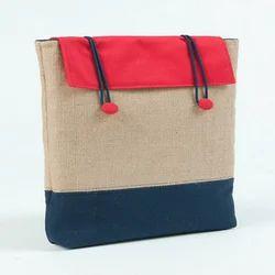 Jute And Cotton Laptop Bag