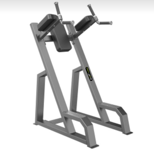 Gym Calf Raises On Leg Press Machine, Plate Loaded, Seat Material: Leather