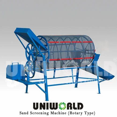 5 Hp Steel Rotary Type Sand Screening, Capacity: 5 Cum/Hr (input)