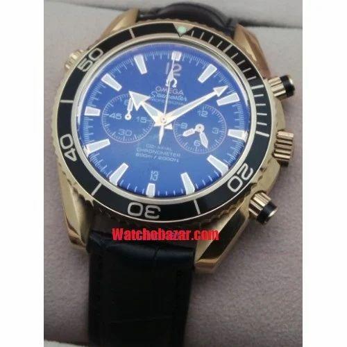 omega seamaster professional leather strap rose ���������