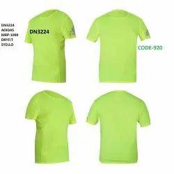 Adidas Round Neck Light Weight Dry Fit Florescent T Shirt Sleeve Logo DN3224 DN3225 DN3226 DN3227