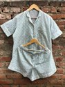 Unisex Night Wear Printed Half Payjama Set