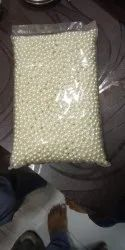 Round Creamy Non whole Pearl Beads, Size: 6 mm and 8mm, for Garment