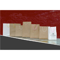 Kraft Paper Brown Paper Carry Bags, For Shopping