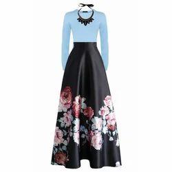 Cotton Floral Print Long Skirt, Size: S, ...