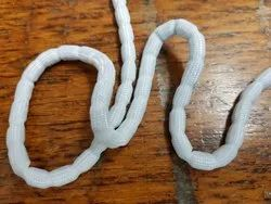 White Lead Curtain Bottom Weight Chain, Shape: Round