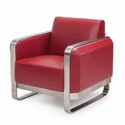 Red Single Seater Sofa