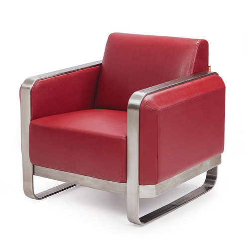 Red Single Seater Sofa
