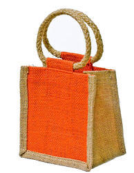 Rope Handle Jute Pouch