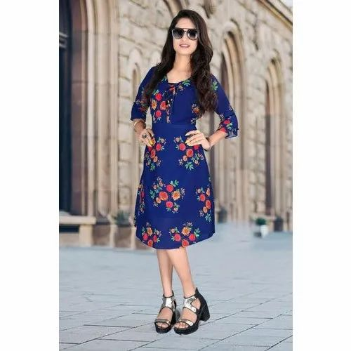 Cotton Casual Wear Ladies Fancy One Piece Dress