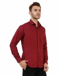 Maroon Color Mens Formal Shirt