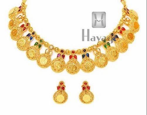 ff1d868caa6c5 Short Necklace - NK6205 Laxmi Coin Designer Necklace Set Wholesale ...