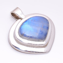 Rainbow Moonstone Solid 925 Sterling Silver Pendant