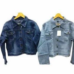 Full Sleeve Party Wear Ladies Stylish Denim Jacket, Size: S-XXL