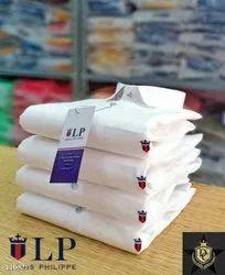 White Cotton/Linen Men Clothing