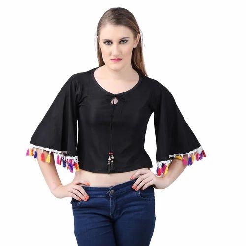 df1d0aa56b7 Black Hosiery Girls Designer Top