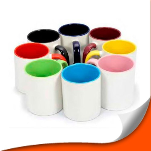 Ceramic Sublimation Two Tone Coffee Mug, Capacity: 200ml, Packaging Type: Box