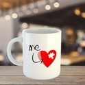 White Mug With Customized Logo, Image , Quote Print
