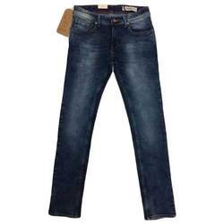 Comfort Fit Faded Men's Denim Blue Jeans