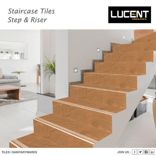 Porcelain Wooden Stair Tile Size Small Medium Large Rs 280 Box