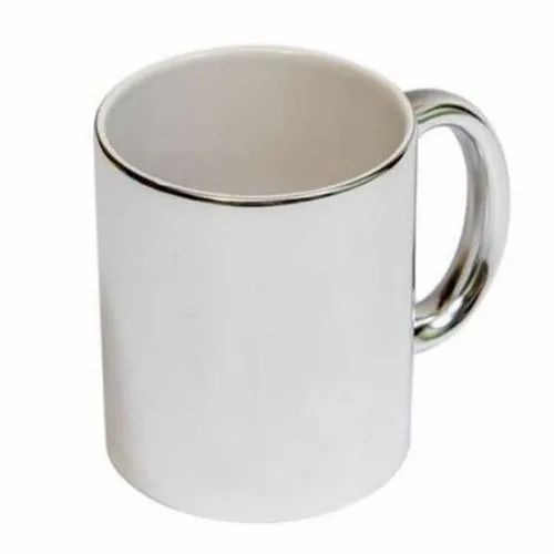 8beb3dfbbb4 Giftec Creations Ceramic Silver Line White Blank Sublimation Mug for  Gifting Purpose