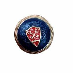 Box Round Brass Suit Button