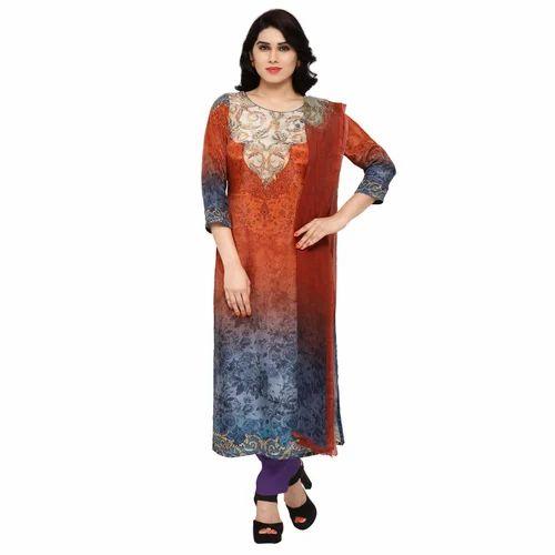 5895a4ec31 Round Neck Digital Print Pakistani Salwar Suit, Size: S, M & L, Rs ...
