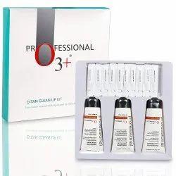 O3 D-Tan Clean Up Peel Scrub, Mask And Cleanser Facial Kit - De Tan