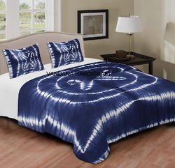 Indian Shibori Print Throw Bed Sheet Set