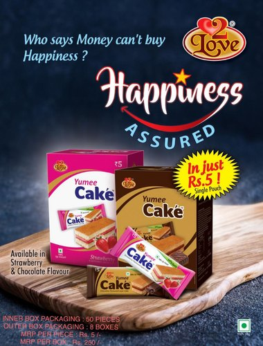 Chocolate Soft Cake, Packaging Size: 50 Pieces In 1 Box, Packaging Type: Box