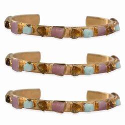 Rough Gemstone Adjustable Cuff Bracelet