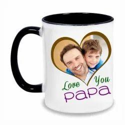 Ceramic Printed Coffee Mug, Shape: Round, Packaging Type: Box
