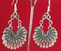Alloy Nk Handmade Fashionable Oxidized Chand Jhumki Silver