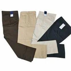 Regular Fit Formal Wear Mens Cotton Trousers, Size: 34