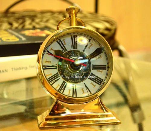 Handmade Brass Tabletop Clocks