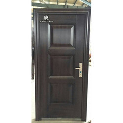 Wooden Finish Brown Interior Single Steel Door, Size/Dimension: 81x38 inches