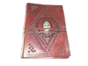 Vintage Leather Stone Binding Journal