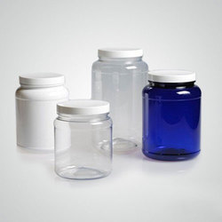 Pet Capsule Tablet Jar With Aluminum Lines Cap