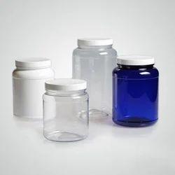 Pet Capsule Tablet Jar With Aluminum Lines Cap