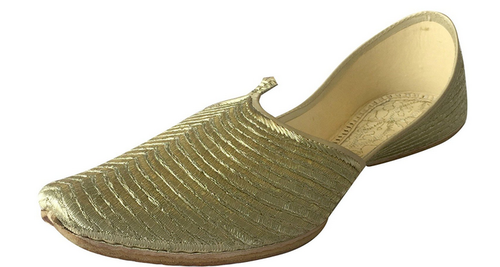 da5e5508f9d Gold Punjabi Jutti Ethnic Sherwani Bridal Shoes at Rs 1595  piece ...