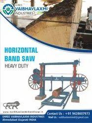 Mild Steel Horizontal Band Saw Machine, For Wood Cutting