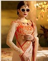 Georgette Party Wear Bollywood Style Sarees, 6.3 M (with Blouse Piece)