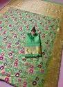 Meena Kari Work Banarasi Silk Sarees