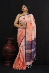 Pure Lilen Digital Print Saree