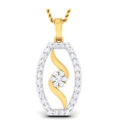 Gold Diamond Pendant